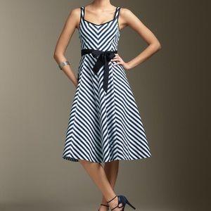 Talbots Shoreline Navy & White Striped Dress